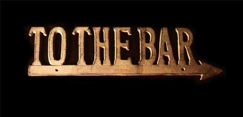 Antique Reproduction To The Bar Cast Iron Arrow Sign by Moby Dick
