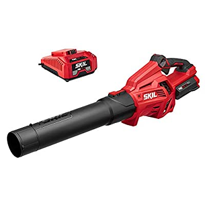 Skil BL4713-10 PWRCore 40 Brushless 40V Leaf Blower Kit Includes 2.5Ah Battery and Auto PWRJump Charger