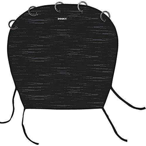 Dooky Universal Cover Matrix Sonnenschutz, Wetterschutz für Babyschale, Kinderwagen und Buggy (UV-Schutz LSF 40+, TÜV getestet, universale Passform), Schwarz