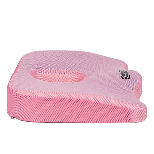 SGGMRR Memory foam kussen met gewatteerde gel memory foam kussen, ergonomische rugleuning stuitje, geschikt voor kantoor, thuis, school, bedrijf
