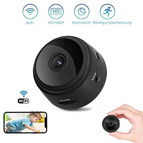 Mini-camera, draadloze wifi, mini-bewakingscamera, kindermeisje, camera met bewegingsdetectie voor iPhone/Android Phone/iPad (mini-camera), compacte beveiligingscamera voor binnen en buiten