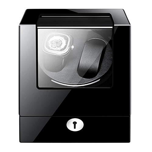 L.HPT Uhrenbeweger für Automatikuhren 2,Leise Batteriebetrieben Batterie Breitling Holz 2 Uhren Uhrenbox Uhrenboxen Uhrenaufbewahrung Uhrenkasten Uhrenvitrine Uhrenschatulle Schwarz