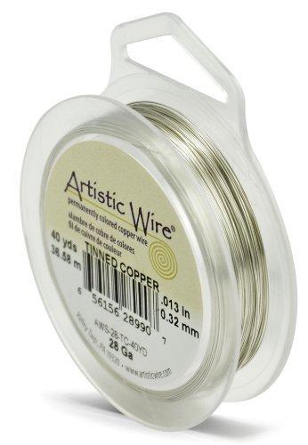 Artistic Wire Alambre de cobre estañado calibre 28 de Artistic Wire