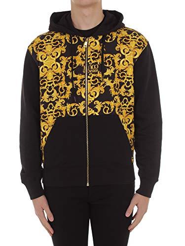 Versace Jeans Couture B7 GWA7F0 S0156 Sweatshirt met capuchon, heren, zwart, S