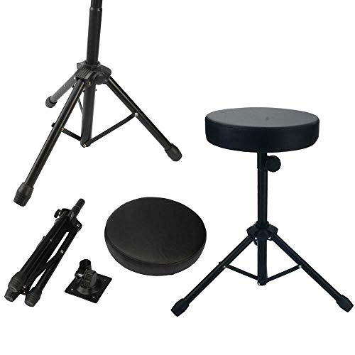 New Drum Throne Padded Seat Stool Stand Drummers Percussion Drumming Chair