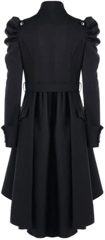 Forwelly Plus Size Winter Coat for Women Fashion Solid Gothic Long Jacket Tops Button Vintage Tuxedo Coat