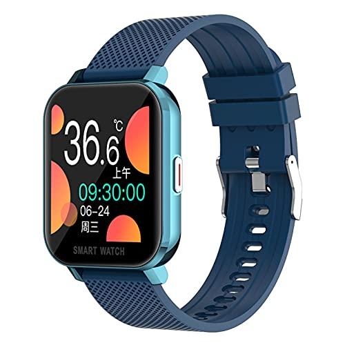YDK Smart Watch MT28 Smart Watch 1.54 Pulgadas Tasa del Corazón Monitoreo De La Temperatura del Cuerpo Rastreador De Fitness IP67 Pulsera Deportiva A Prueba De Agua Android para Android iOS,E