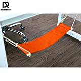 Ash & Roh Portable Adjustable Foot Hammock for Corner Desk Office Foot Rest Mini Under Desk Foot Rest Hammock for Home, Office, Airplane, Travel, Study and Relaxing