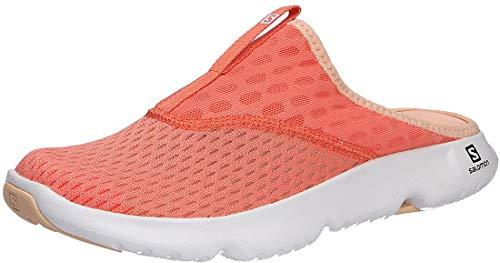 Salomon Damen Reelax Slide 5.0 Walking Shoe, Orange Persimon White Almond Cream, 39.5 EU