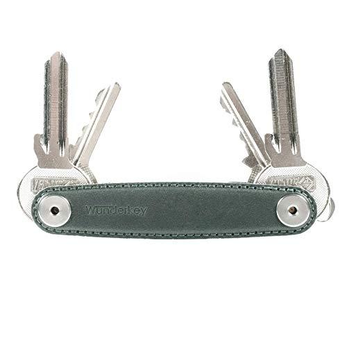 WUNDERKEY® Leder Oxford Green (bis 12 Schlüssel) – der Schlüssel Organizer Made in Germany mit Premium Qualität | Key Organizer | Schlüsseletui | Schlüsselhalter | Schlüsselbund Organizer
