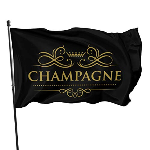 N / A Champagne Mercier Fahnen Flagge Flag Banner Polyester Material Gartenbalkon Gartendekoration Im Freien 90x150cm
