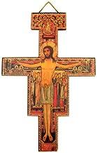 Religious Gifts Catholic Saint Francis of Assisi Tau Cross San Damiano Hanging Decoration Wall Crucifix