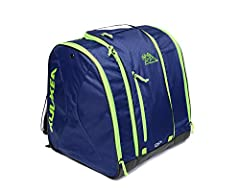Front loader ski boot bag for alpine ski boots, helmet, and gear. Jumbo Pocket provides full visibility into the bag for easy packing and quick retrieval of ski gear. Sizing: Ski boots up to Mondo 29.5 (US Shoe Size-Men's 11.5, Women's 12.5). Fabrics...