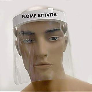Visiera antidroplet paraschizzi CERTIFICATA DPI cat.1e MADE IN ITALY Personalizzata con nome attività