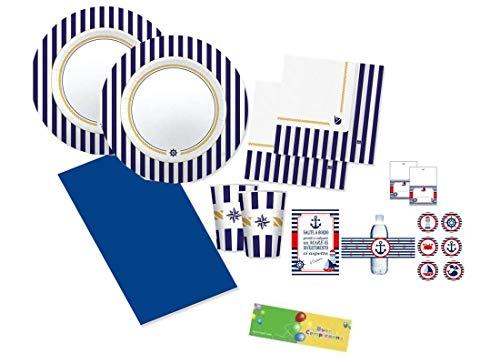 big-party Kit n 70 Marinaresco Coordinato Tavola