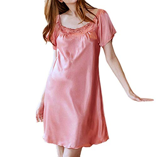 Nachthemd dames zomer warmte holle sche meisje korte rok pyjama's negligé nachtkleding lingerie (twee soorten)
