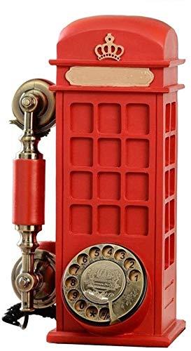 ZHANGNING Teléfono Fijo con Cable Resina Vintage Hogar Teléfono Estilo Moda Dial...