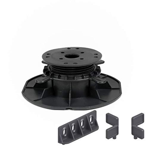 25 Stück Trevendo® Universal Stelzlager & Plattenlager L 45-70 mm für Holz, WPC und Stein