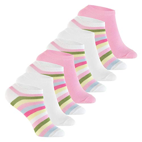 Footstar Kinder Sneaker Socken (8 Paar ) Bunte Kurzsocken für Mädchen und Jungen - Multicolor Mix 31-34