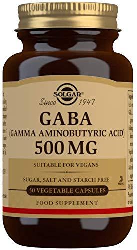 Solgar Gaba 500 Mg, 50 Cápsulas, color Multicolor, One size, 100 ml