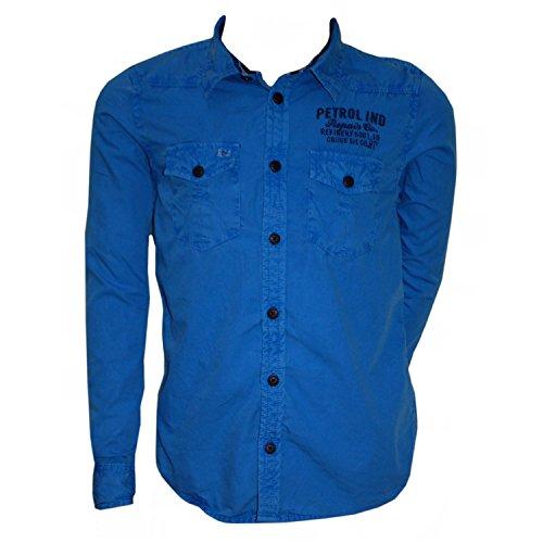 Petrol Industries - Jungen Langarm Hemd, blau, Größe 164