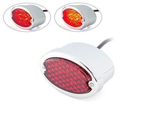 Chrome Moto LED Feu Rouge Feu Arrière Lentille Rouge pour Projet Personnalisé Vélo Classique
