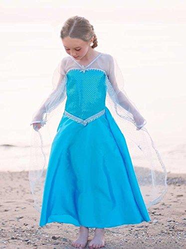Creative Bildung für Kanada Mädchen ELSA Ice Crystal Queen Bademantel Kostüm, groß