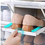 fedsjuihyg Zapatos De Flip 3pcs / Set De Plástico Espesados ??Caja Transparente Zapatos Cajón Caso a Prueba De Polvo Contenedor De Almacenamiento Apilable Zapato Caso Casero Útil