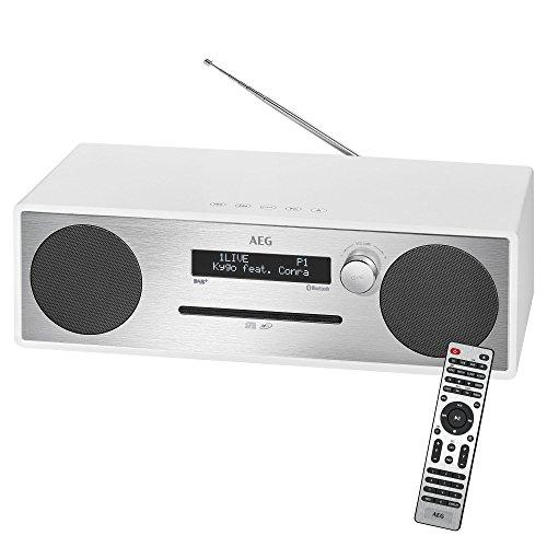 AEG MC 4469 Stereo-Musikcenter mit DAB+, CD/MP3, Bluetooth, AUX-IN, USB, PLL-UKW-Radio, Kopfhöreranschluss, Fernbedienung weiß