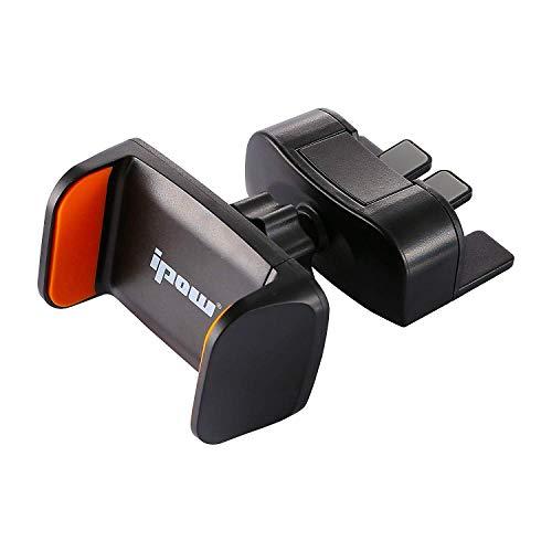 ipow Mini Soporte Móvil Coche para Ranura de CD de Coche, Soporte Móvil Coche Universal con 360° Rotación para Samsung, Huawei, iPhone, Xiaomi, Motorola, Sony,etc.