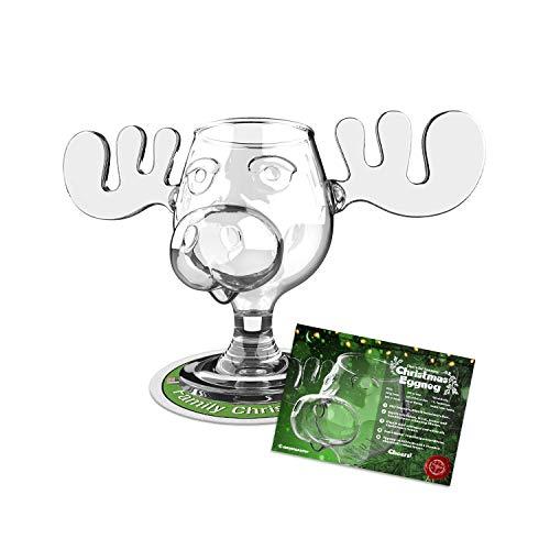Offizielles Elchglas Moose Mug aus dem Film Schöne Bescherung inklusive Santa Pop Eyes Schlüsselanhänger Offiziell lizensiertes National Lampoon\'s Christmas Vacation Glas in Fotobox