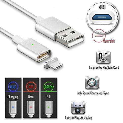 ADATECH CABLE MAGNETICO MICRO USB PARA ANDROID CARGADOR IMAN CLAVIJA MICRO USB DATOS