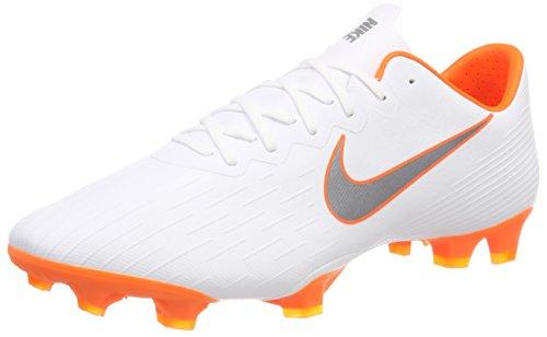 Nike Herren Mercurial Vapor 12 FG PRO Fußballschuhe, Weiß (White/Chrome-Total O 107), 40 EU