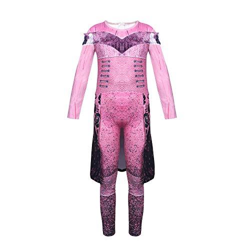 Niñas Cosplay Descendientes 3 Audrey Vestido de Fiesta para Adultos Niñas Rosa Claro Regalo