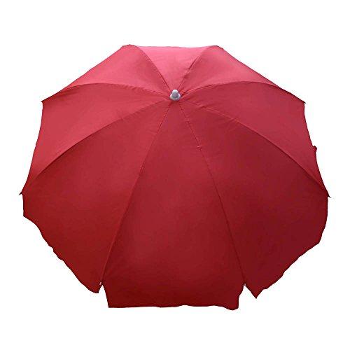 Fendo single fold garden red umbrella