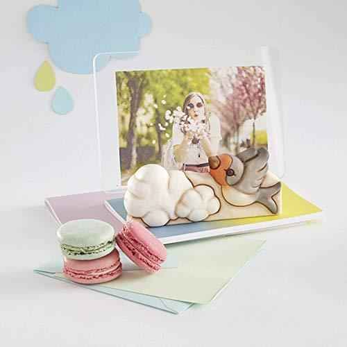 THUN ® - Cornice Portafoto da Tavolo - Vetro -Linea Pioggia di Colori - Formato 14x7 cm