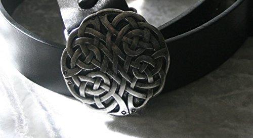 Dark Dreams Gothic Mittelalter Kelten Gürtel Keltischer Knoten altsilber, Länge:90, Gürtel Farbe:Schwarz, Farbe:Altsilber - 2