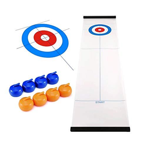 YYL Schnelles Sling Puck Spiel Tabletop Curling, Tischplatte Curling-Spiel für Familien Erwachsene und Kinder Team Brettspiel Training für Innen- Oder Reisekompaktlagerung