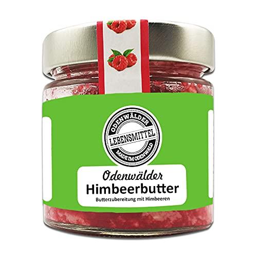 Odenwälder Lebensmittel - 150g premium Himbeerbutter mit echten Himbeeren - hochwertige Butter - Made in Germany