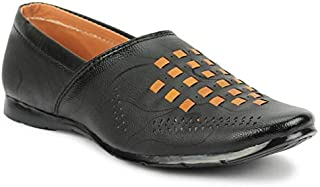 Tik-Tok Shoes Boys/Kids Black Synthetic Leather loffer Shoes- IND/UK/Age - 11-12 Years