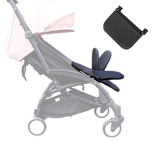 Reposapiés para carrito de bebé, extensión para piernas, accesorio para cochecito de bebé, tabla plegable y ligera de 8.2 pulgadas, de color negro ✅