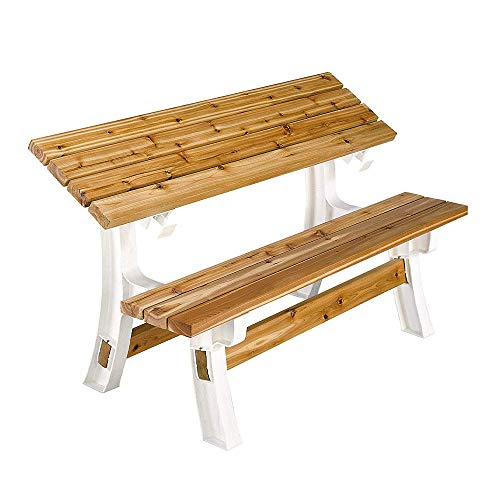 abc outdoor benches 2x4basics 90110ONLMI 90110 Flip Top BenchTable, Bench, Patio Table, Sand
