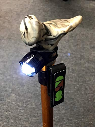 Personal Cane, Holder Hands Free and Ergonomic Grip Wood 3 Right Hand