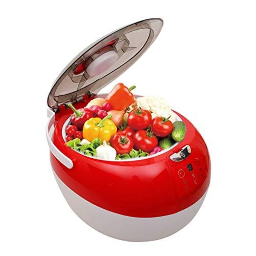 Atten Frucht-Gemüse-Waschmaschine, Intelligent Kitchen Waschmaschine, Ultraschall von Baukasten, Smart LED-Timing, schnelle Reinigung, 7L Kapazität