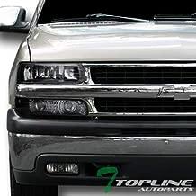 Topline Autopart Euro Black Headlights+Signal Bumper A Dy+Altezza Taillight Jy For 00+ Tahoe Suburban