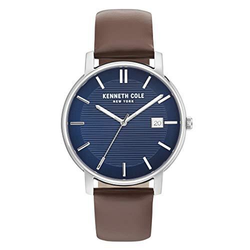 Reloj Kenneth Cole CLASSIC para Hombres 42mm, pulsera de Cuero Sintético