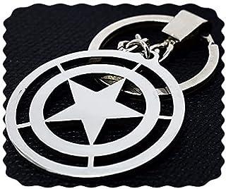 ميدالية مفاتيح درع كابتن امريكا من الفولاذ المقاوم للصدأ
