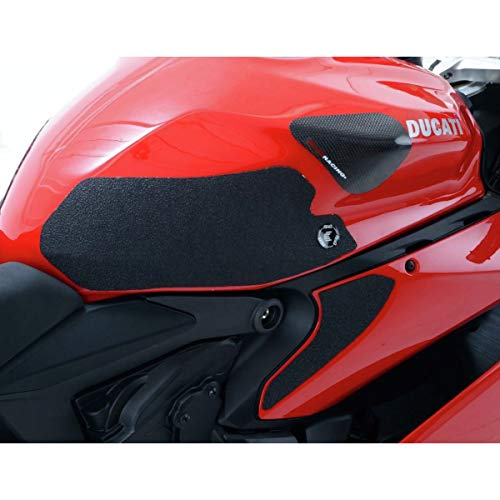 Kit 4pz. adesivi antiscivolo serbatoio neri DUCATI 899/959/1199/1299 PANIGALE - R&G Racing EZRG216BL