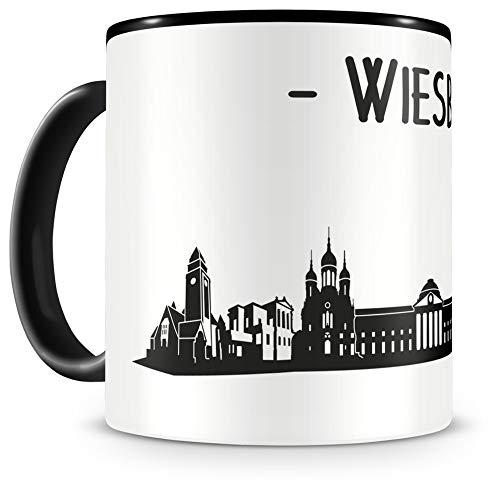 Samunshi® Wiesbaden Skyline Tasse Kaffeetasse Teetasse