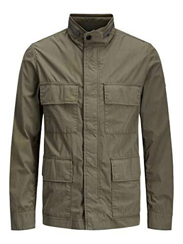 JACK & JONES Jprlee Field Jacket Blu Giacca, Verde Scuro, XL Uomo